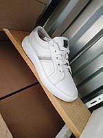 Стильные женские белые кожаные кроссовки 36-40 р-р, фото 1