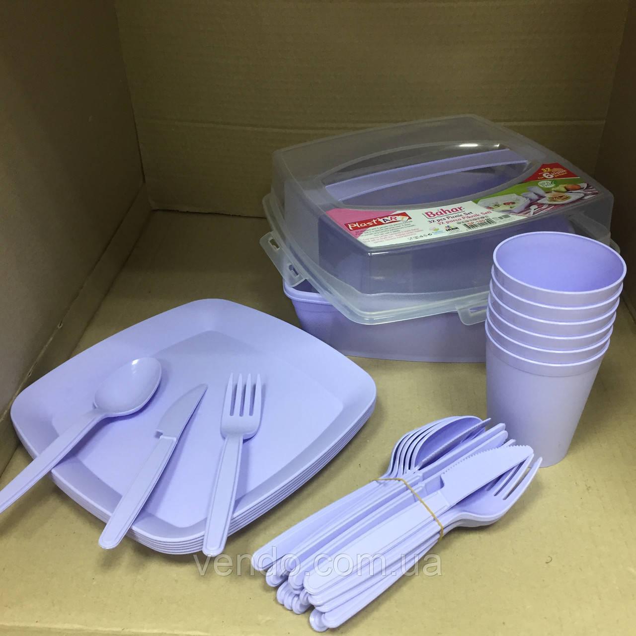 Набор посуды для пикника 32 предмета на 6 персон Турция