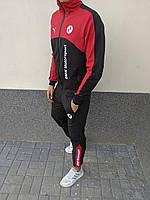 Спортивный костюм Puma BMW Motorsport черно-красный мужской осенний демисезонный ЛЮКС качества