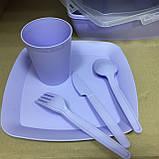 Набор посуды для пикника 32 предмета на 6 персон Турция, фото 4