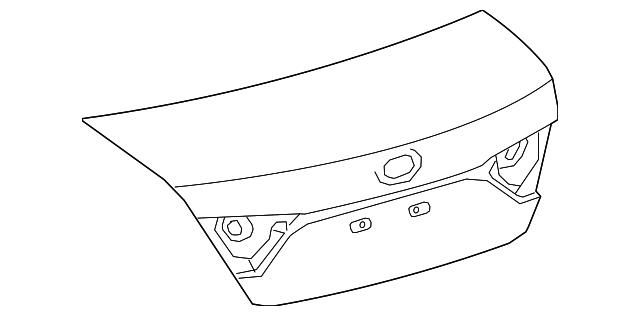 Крышка багажника Toyota Camry SE V55 '14-17 USA (FPS) 6440106A60 под спойлер