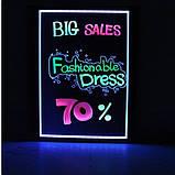 Светодиодная светящаяся вывеска / Led доска для рекламы 60х80, фото 3