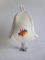 Шапка банна Герб з Прапором України, фото 1