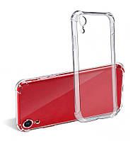 Силиконовый прозрачный чехол для iPhone XR усиленные углы
