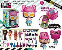 Игровой набор кукла Bela Dolls BL1156 сумка, в кот. кукла 17,5см+сюрпризы: одежда, украшения, аксесс ...