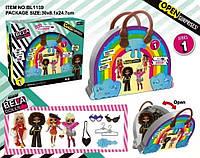 Игровой набор кукла Bella Dolls BL1159 сумка д/девочек в кот. кукла 17,5см+сюрпризы:одежда, украшен ...