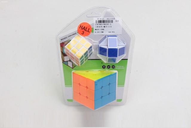 Кубик логика 8833C-3 (1787883) 3*3, +маленьк.кубик+змейка, в слюде 19*14*5см