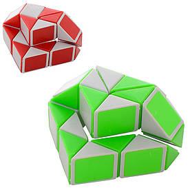 Игра 009A-1 логическая, змейка, 2цв, в кульке, 14-13-3,5см