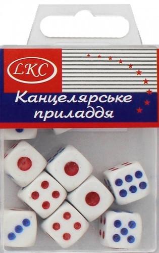 Кубик игральный 1092-2, 1,75*1,75см, 8шт. в упаковке