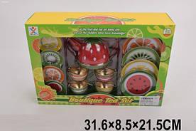 Посуд метал 966-A1(1878000) чайник,чашки,блюдця,в кор.31,6*31,5*8,5 см