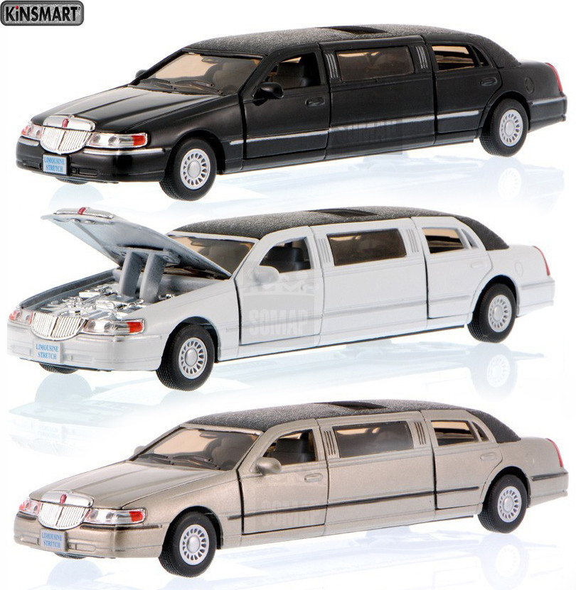 """Машина металл KT7001W """"Lincoln Town Car Stretch Limousine 1999"""""""