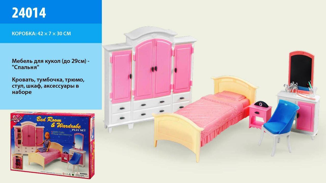 """Мебель """"Gloria"""" 24014 спальня и гардероб, в кор.42*30*6см"""