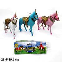 """Лошадь-единорог 823 В мире животных 8,5"""" флок., 2в., кул., 21,6*19,6"""