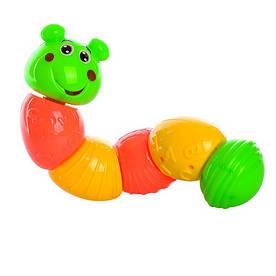 Гусениця BB135, 26см, брязкальце, в кульку, 26-7,5-7см