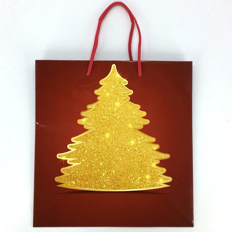 Пакет подарочный -=A=- Новый год PBN-1336 ламинированный 28*29*14 см (12 шт в уп.)