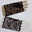 Мереживні мітенки кружевные митенки перчатки, фото 4