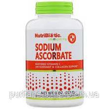 NutriBiotic, Аскорбат натрия, Буферизованный содой витамин C, Sodium Ascorbate, кристаллический порошок, 227 г