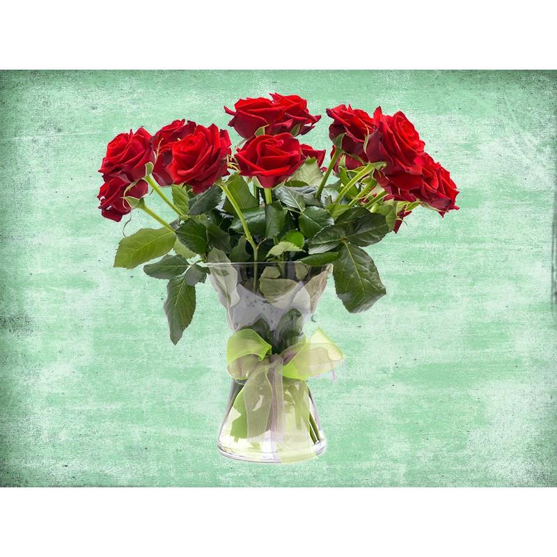 """Наклейка """"Букет червоних троянд""""  Вінілова плівка Німеччини"""