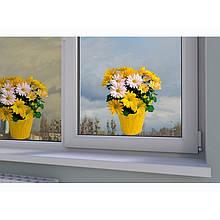 """Вінілова наклейка квіти """"Жовті гербери"""""""