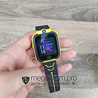 Детские смарт часы Smart Baby Watch TD07 желтые умные для детей девочек ребенка наручные с gps сим картой