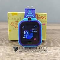 Детские смарт часы Smart Baby Watch TD07 синие умные для детей девочек ребенка наручные с gps сим картой