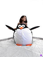 Пингвин, Кресло-мешок, бескаркасная мебель, кресло-груша, пуф, бин- бэг, пуфики