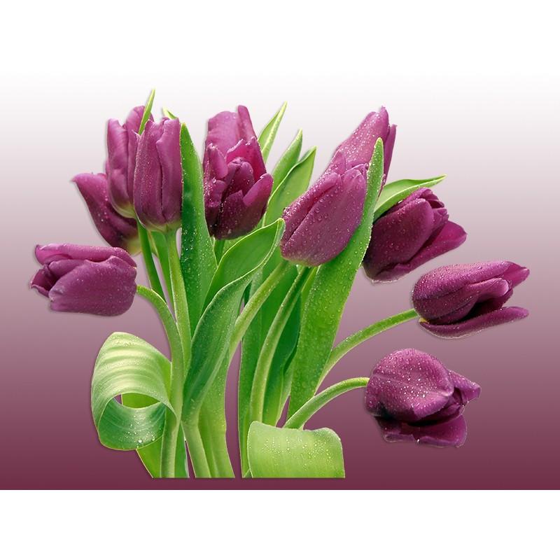 """Наклейка """"Фіолетові тюльпани""""   Вінілова плівка Німеччина"""