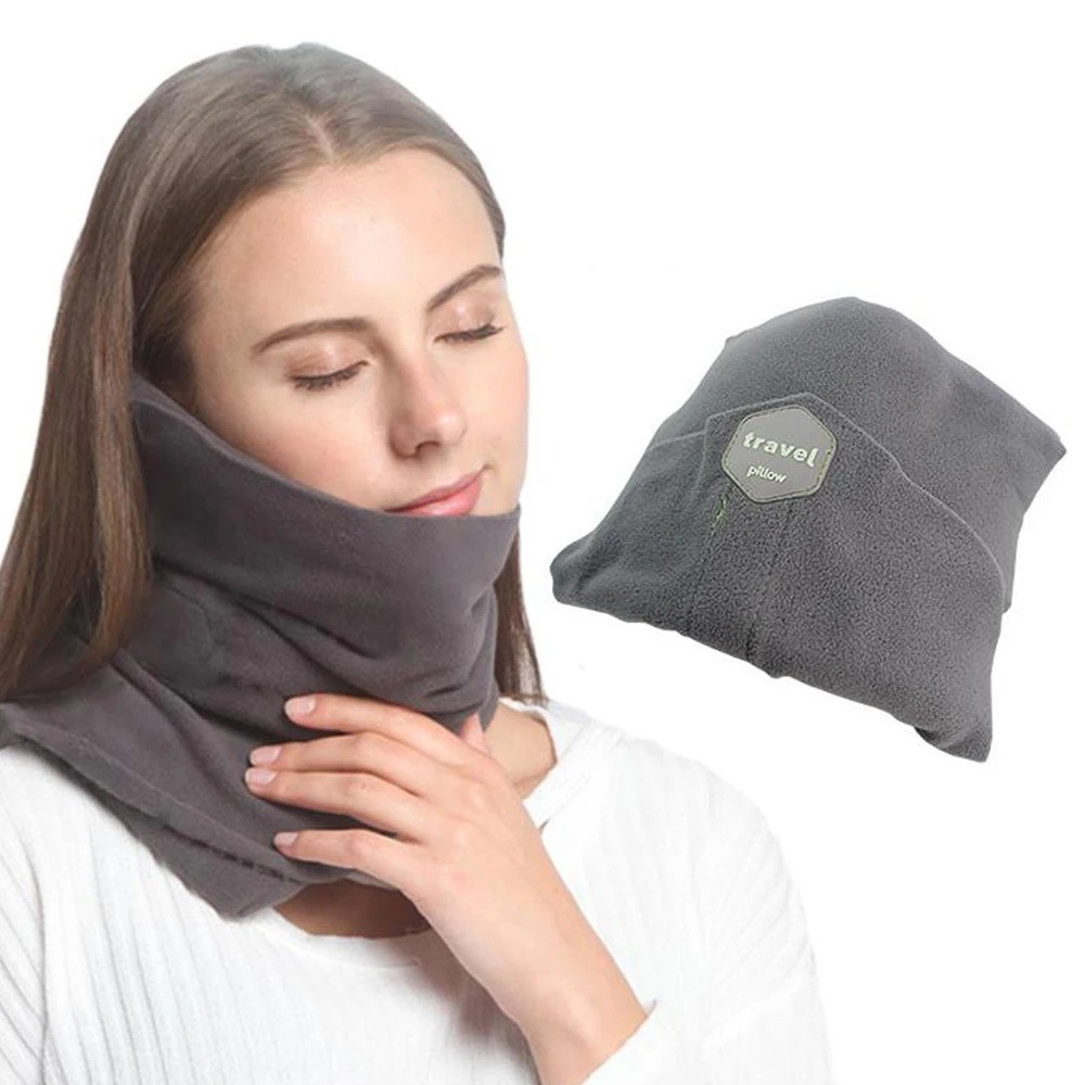 Подушка-шарф для путешествий Travel Pillow Серая