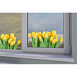 """Наклейка """"Жовті тюльпани""""  Вінілова плівка Німеччина, фото 2"""
