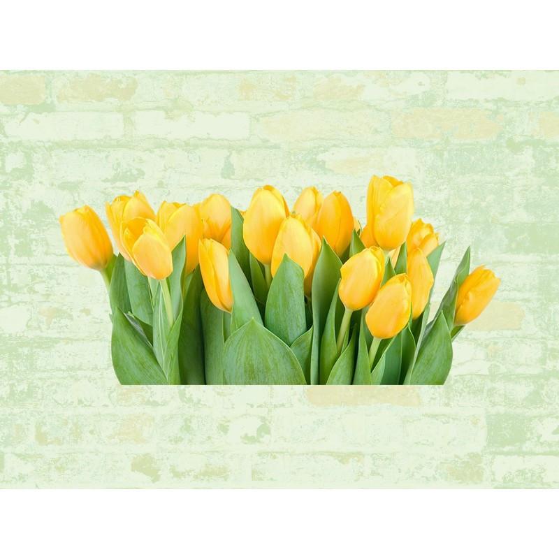 """Наклейка """"Жовті тюльпани""""  Вінілова плівка Німеччина"""