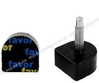 Набойки полиуретановые на штыре FAVOR 7*7 мм штырь 2.9 мм черные 604M