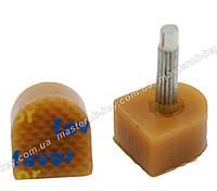 Набойки полиуретановые на штыре FAVOR 10*11 мм штырь 2.9 мм бежевый 605А
