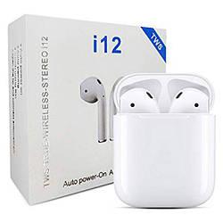 Беспроводные сенсорные наушники TWS i12 Bluetooth 5.0 Stereo