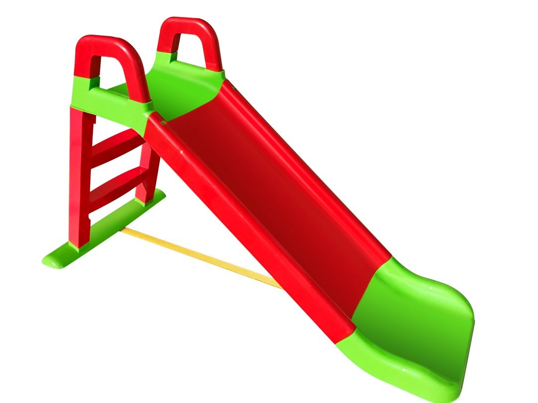 Горка для катания детей 140 см. красно-зеленая 0140/01
