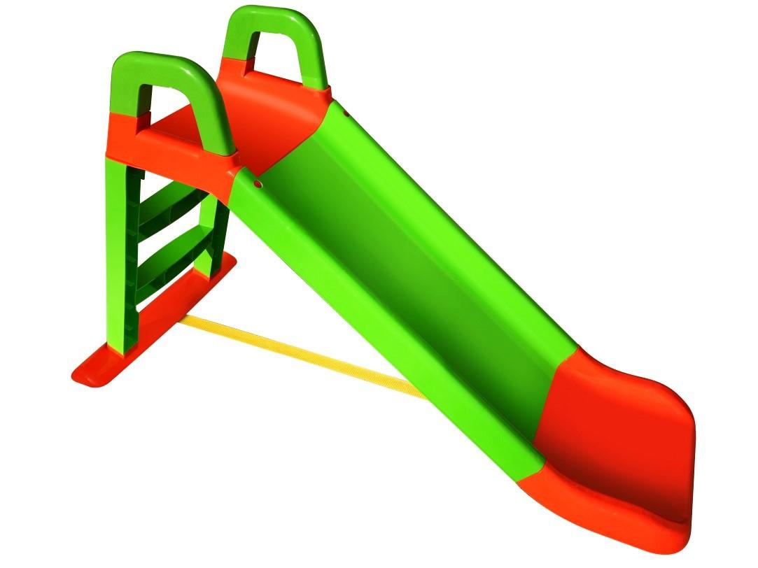 Горка для катания детей 140 см. зелено-оранжевая 0140/04