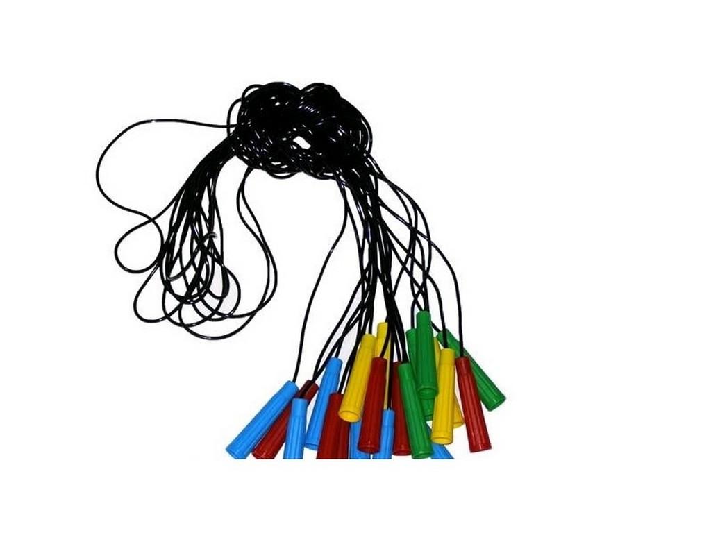 Скакалка №2 черная, плотная, диам. 3,9мм, длина 2,20 см (034/3) (10/1)