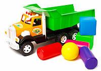 Машина Фарго - строитель (куб.б2 +цилиндр 3 шт+шар.б 2 шт) (009/8)
