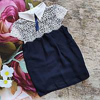 Нарядная  шифоновая блуза с коротким рукавом (140-152р)