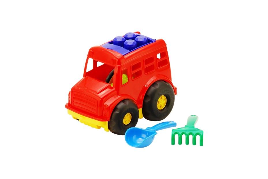 """Автобус """"Бусик"""" №1: автобус, лопата и грабелька (ЛГ3) 0084"""
