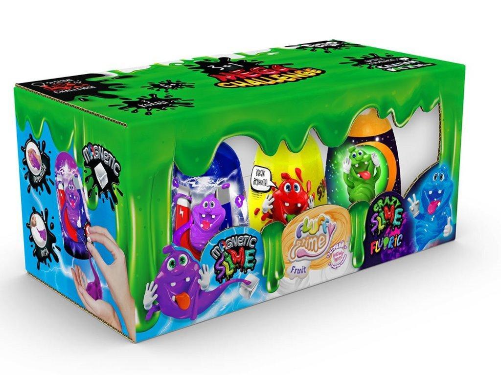 """Лизун-слайм """"3 в 1 """"Magnetic Slime"""", """"Fluffy Slime"""", """"Crazy Slime Fluoric"""" SLM-14-01, рус."""