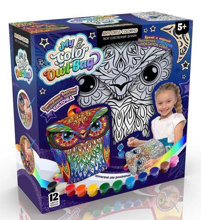 """Набір для творчості """"My Color Owl-Bag"""" рюкзачок-сова, COWL-01-01"""