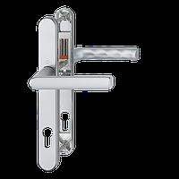 Нажимной гарнитур HOPPE HAMBURG Гамбург для дверей толщиной 72-82 мм E-92 мм цвет серебро F1