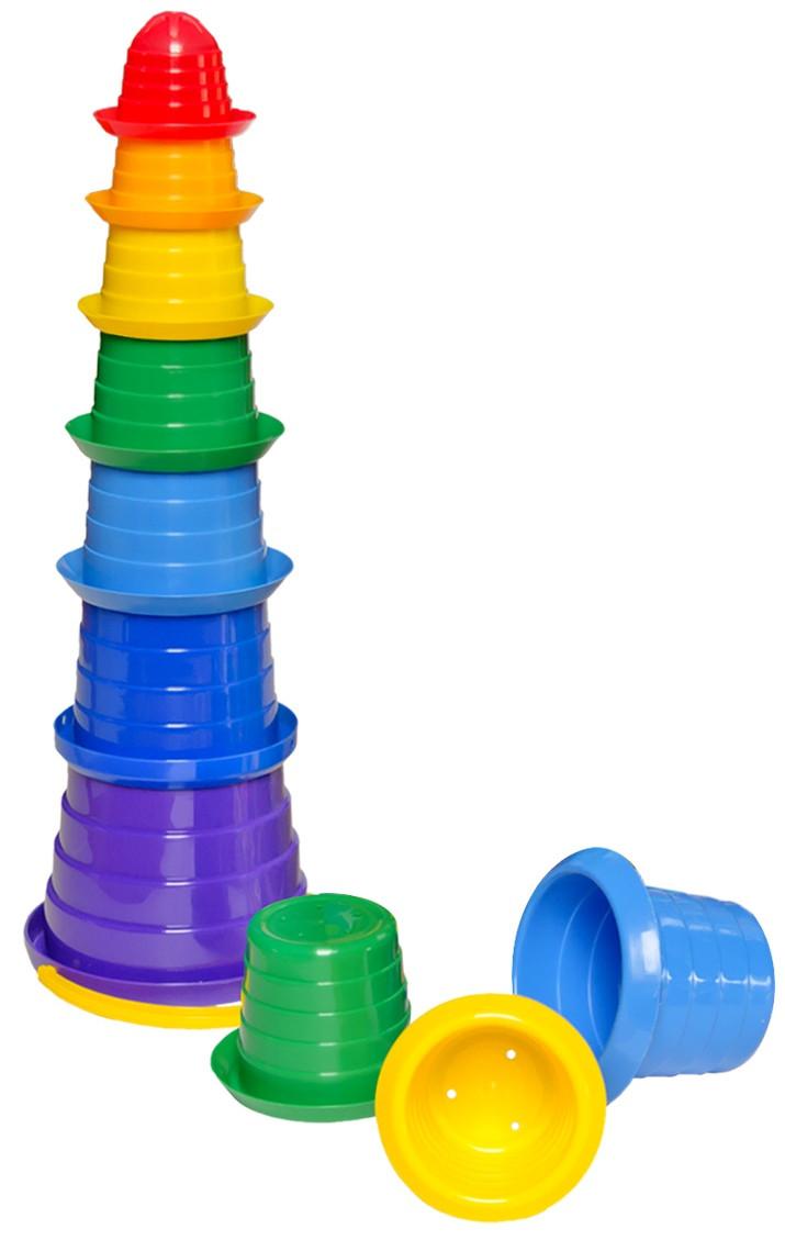 """Пирамидка """"Сомбреро 3"""" в кульке (7 ведерок) (2704)"""