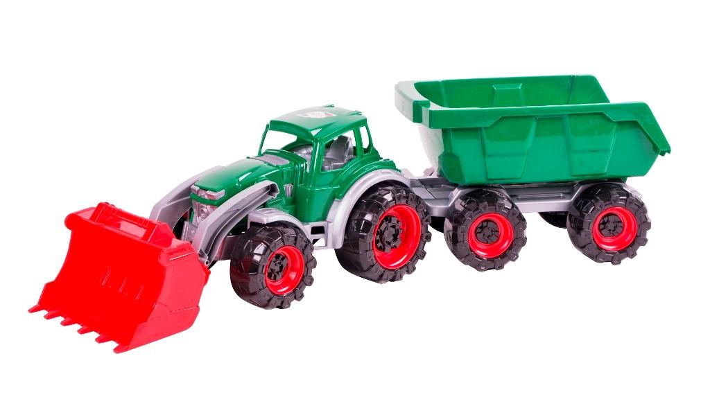 Трактор Техас погрузчик с прицепом (315)