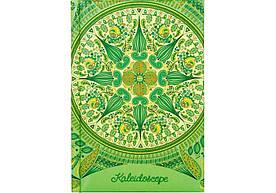 """Блокнот А6 80 л. Optima O20364-04 """"Калейдоскоп"""" обкладинка картон з поролоном, клітина, зелений"""