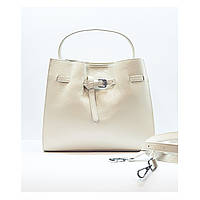 Женская сумка белая средняя повседневная натуральная кожа, фото 1