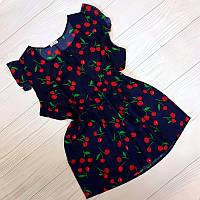 Женская блузка с вишенками летняя