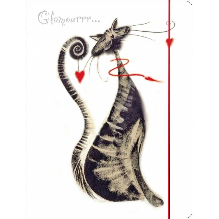 """Папка на резинке пластиковая А4 LEO L5910 """"Glamour cats"""" 490736"""