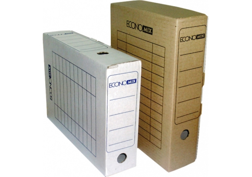 Бокс архивный Economix E32701-07 картонный 80мм, коричневый