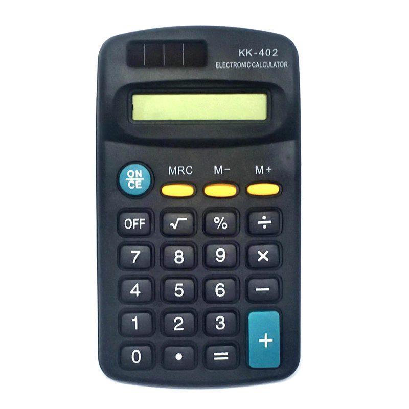 Калькулятор KK-402 8 разр, питание 1*AA 115*65 мм